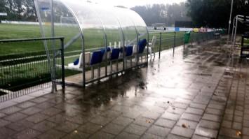 regen op het veld